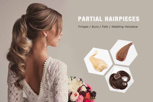 Partial Volume Human Hair Pieces