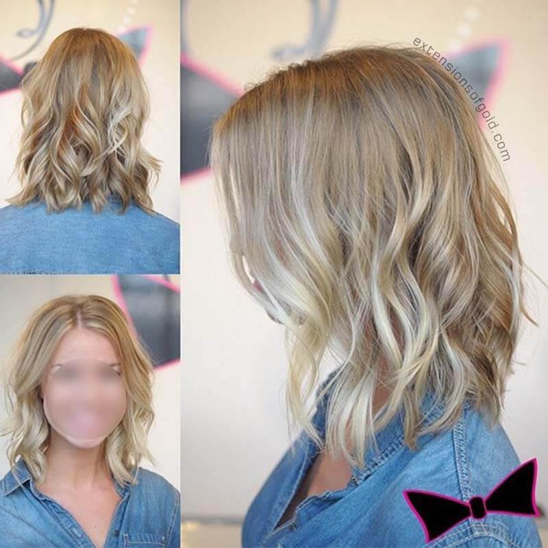 Custom Made Light Autumn Blonde Hair Topper to Add Hair Volume for Thinning Hair Loss C090401