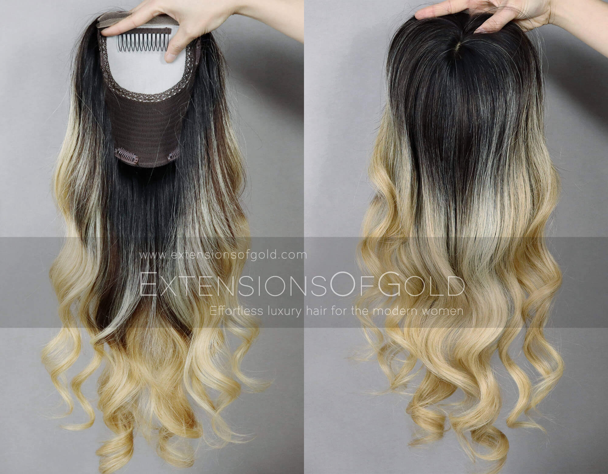 Human Hair Toppers D020205